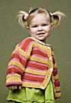 Little girl in a striped sweater