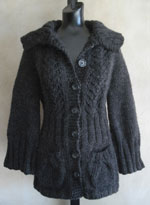 Bernat: Pattern Detail - Alpaca - Top Down Cardigan (knit)