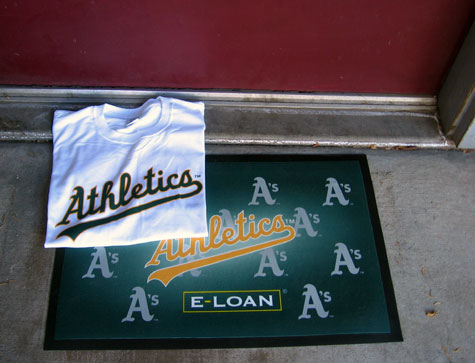 Free stuff from the A's game
