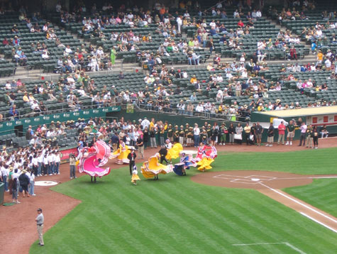 Folklorico in pregame festivities