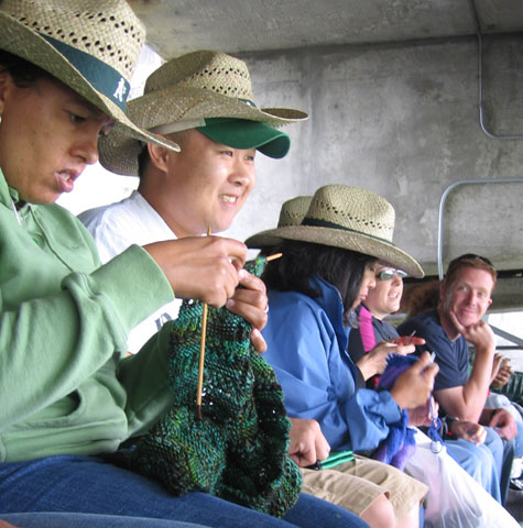 Knitters at the game