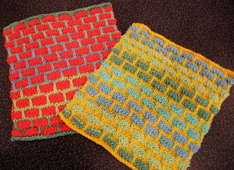 Self-striping dishrags