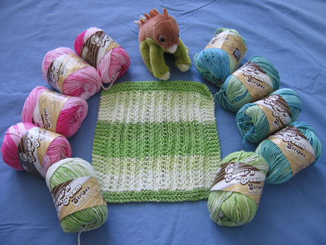 Dishrags and yarn