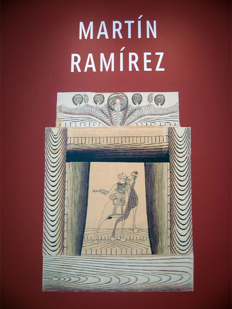 Museum wall sign for the Martin Ramirez exhibit