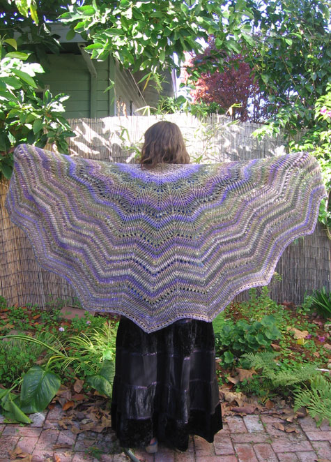 The finished shawl