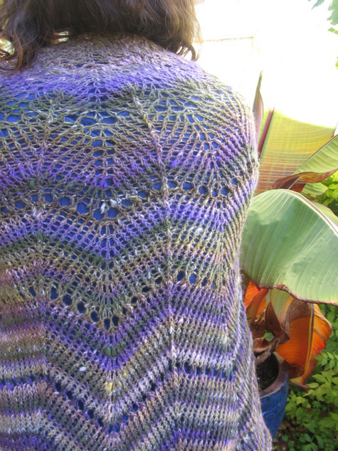 The finished shawl, up close