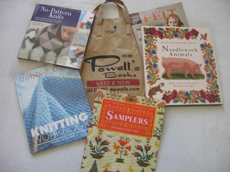 Knitting books from Powells