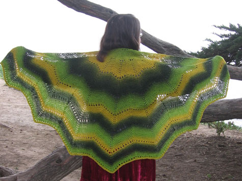 A beautiful shawl, horizontal cut