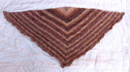 The finished shawl.