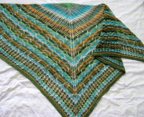 The new striped shawl