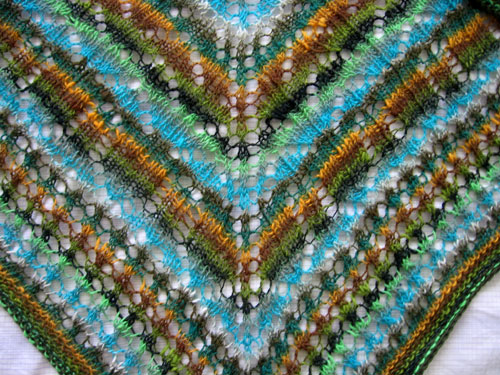 The new striped shawl, detail