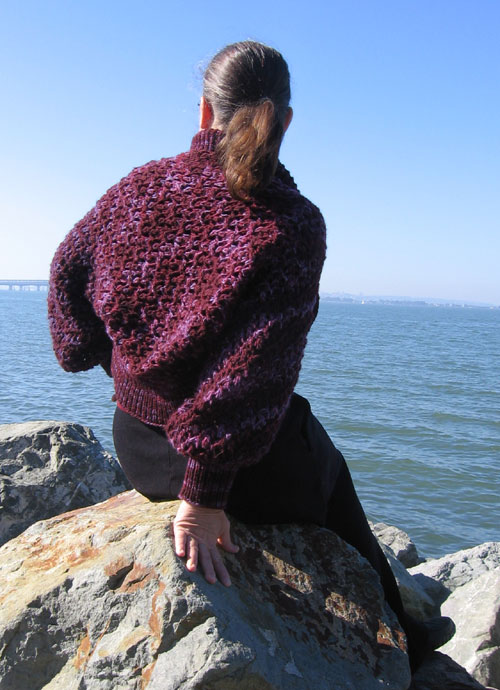 The purply shrug by the sea