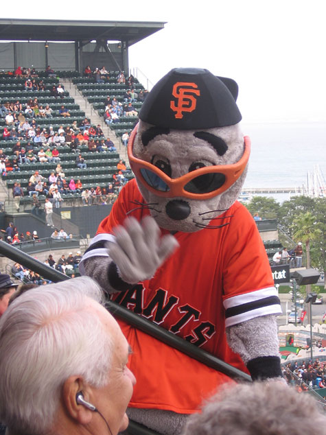 Lou Seal visits the Stitch n Pitch section