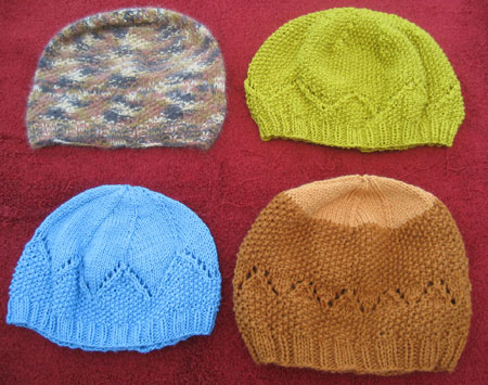 All four Tamalpais Hats